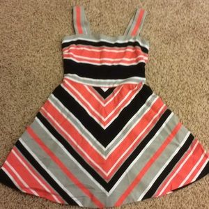 Milly for Banana republic peach striped dress 8